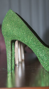 wedding shoe details